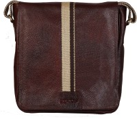 Scharf Men, Women Casual, Formal Brown Genuine Leather Sling Bag