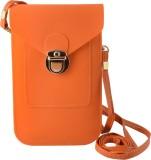 Thebagzone Women Orange PU Sling Bag