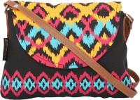 Kanvas Katha Girls, Women Black Canvas Sling Bag