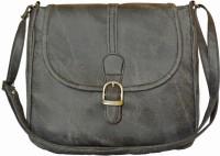 Felicita Women Evening/Party, Casual Black PU Sling Bag