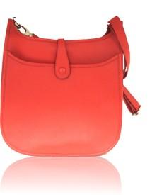 La Roma Women Red Genuine Leather Sling Bag