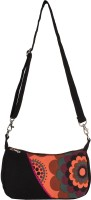 Anekaant Girls, Women Casual Black Canvas Sling Bag