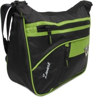 Zwart 314104BG Medium Sling Bag - Black, Green