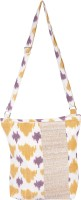 Rope International Women Casual Beige, Yellow Cotton Sling Bag
