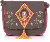 Shaun Design Multi Embroidered With Tassel Cross Body Medium Sling Bag - SLBDX5HKFSXTFHTH