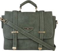 Lino Perros Women Casual Green Leatherette Messenger Bag