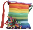 Use Me Rainbow Clusture Large Sling Bag - Multi-color