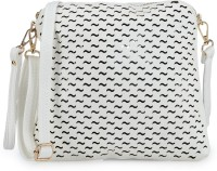 Frosty Fashion Women Casual White PU, Leatherette Sling Bag