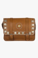 Famous By Payal Kapoor Women Brown Leatherette Sling Bag