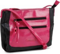 Donna & Drew Women Black, Pink Artificial Leather Sling Bag