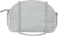 AQ Women Silver PU Sling Bag