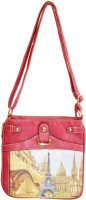 Women Trendz Women Casual Pink Genuine Leather Sling Bag