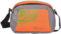 Hawai Men Grey, Orange Polyester Sling Bag