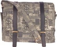 Bags.R.Us Men, Women Casual Grey Canvas Sling Bag
