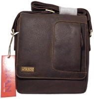 Kan Men, Women Brown Genuine Leather Sling Bag