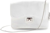 Miss Chase Women Casual, Evening/Party White PU Sling Bag