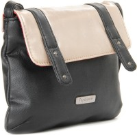 Peperone Women Black, Beige Artificial Leather Sling Bag