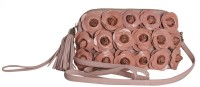 Klasse Women Casual Pink Genuine Leather Sling Bag