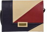 Statement Women Formal Beige Leatherette Sling Bag