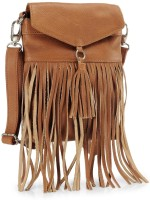 Phive Rivers Genuine Leather : Nora_pr342-B Medium Sling Bag - Tan