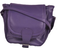 Speed Dot Women Evening/Party Purple Genuine Leather Sling Bag