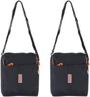 Heels & Handles Women Casual Black Nylon Sling Bag