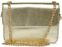Toniq Girls, Women Evening/Party, Casual, Festive Gold PU Sling Bag