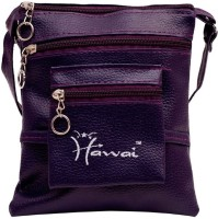Hawai Purple PU Leather Small Sling Bag - Purple-01