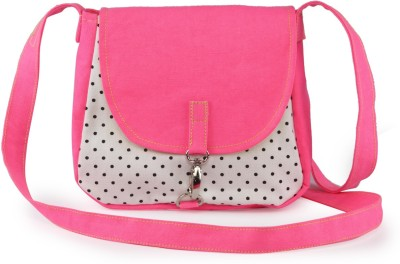 Vogue Tree Women Casual Pink Canvas Sling Bag for Rs. 399 at Flipkart