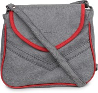 Star Style Women Grey Leatherette Sling Bag