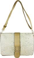 Heels & Handles Women Gold Leatherette, PU Sling Bag