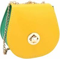 Jewelizer Women Yellow PU Sling Bag