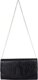 Heels & Handles Women Black Leatherette, PU Sling Bag