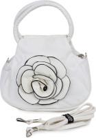 Star Style Women White Leatherette Sling Bag