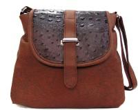 Estoss Women Casual Brown PU Sling Bag