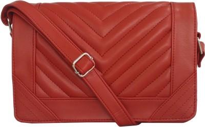 Toteteca Bag Works Women Maroon Leatherette Sling Bag