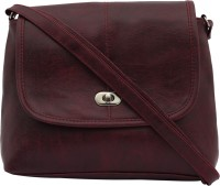 ANICKS Girls, Women Maroon Genuine Leather Sling Bag