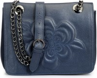 Phive Rivers Genuine Leather - MALAXIS_PR809 Large Sling Bag - Navy