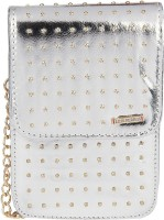 Lino Perros Women Silver Leatherette Sling Bag