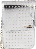 Lino Perros Women Silver Leatherette Sling Bag
