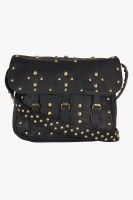 Famous By Payal Kapoor Women Black Leatherette Sling Bag