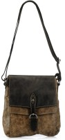 Phive Rivers Genuine Leather - WISTERIA_PR835 Large Sling Bag - Black