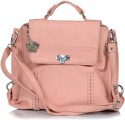 Butterflies Flap Lock Small Sling Bag - Pink