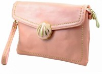 Penguin Women Casual Pink Genuine Leather Sling Bag