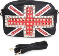 Star Style Women Black PU Sling Bag