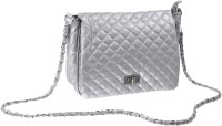 Lee Italian Girls Casual, Evening/Party, Festive Silver PU Sling Bag