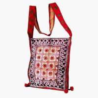 Villcart Hand Block Print Sling Bag - Red - SLBDX9X5NXNVFPZW