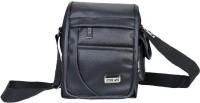 Good Win Men Casual Black Leatherette Sling Bag