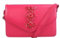 Toteteca Bag Works Women Casual Pink PU Sling Bag