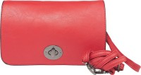 Feliza Women, Girls Casual Red Leatherette Sling Bag
